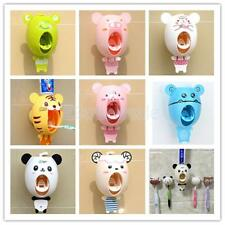 Cute Cartoon Toothbrush Holder/Bathroom Automatic Toothpaste Dispenser Squeezer