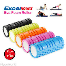 GRID EVA PHYSIO FOAM ROLLER YOGA PILATES BACK AB GYM EXERCISE TRIGGER POINT