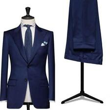 2017 Mens Wedding Blue Suits Groom Tuxedos Fashion Best Man Groomsmen Suit
