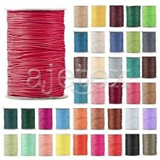 1 Roll 170/80/40M Korea Waxed Polyester Cord Thread 1/1.5/2/3mm Jewellery Crafts