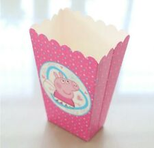 PEPPA PIG THEME POPCORN/ LOLLY BOX PARTY SUPPLIES FAVOURS MOVIE NIGHT