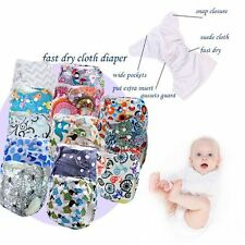 Reusable Kids Cloth Diapers Cover Baby Nappy Adjustable Washable