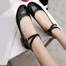 Stylish Hot Womens Flats Patent Leather Ballet Pumps Ballerina Shoes Plus UK7