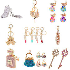 Multi-style Pretty Keychain Rhinestone Crystal Key Ring Purse Charm Pendant Gift