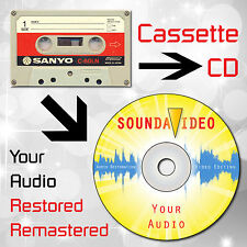 Audio Cassette to CD Transfer Service with FREE Audio Restoration