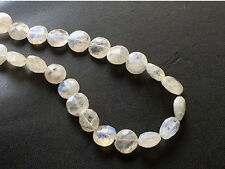 """8"""" Strand Rainbow Moonstone Beads,Faceted Moonstone Coin Gems Moonstone Necklace"""