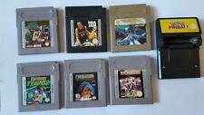 7 X GAMES BUNDLE TAZ MANIA, POKEMON PINBALL, SOCCER, NEMESIS, TENNIS GAMEBOY
