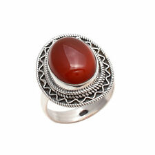 CARNELIAN SOLID 925 STERLING SILVER HANDMADE RING CUSTOM SIZE 5,6,7,8,9,10
