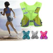 Reflective Vest Style Hydration Backpack Running Cycling Hiking Water Bottle Bag