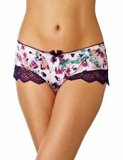 Gossard Lingerie Fleur Blueberry Short Brief Knicker 7734 Pink Purple Floral NEW