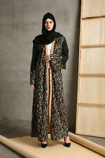 Dubai Women Long Cardigan Dress Muslim Kaftan Islamic Abaya Cocktail Maxi Dress