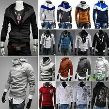 Mens Designed Hoodie Jacket Coat Long Sleeve Casual Sweater Pullover Sport Wear