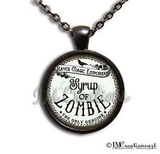 Handmade Glass Dome Pendant Necklace Apothecary Potion Medicine Gothic Zombie