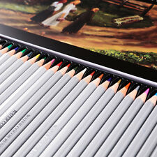 Assorted 24/36/48/72 Colors Water Color Pencils Paper/Tin Case Drawing Sketching