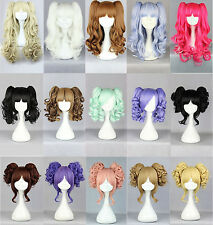 2  Ponytail Wavy Curly Colorful Hair Party Fashion Sexy Cosplay Wig