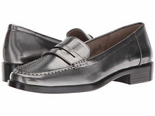 Aerosoles Main Dish Dark Silver Metal Loafer Women Size 7 M