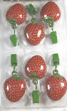 6 Pc. Set Patio Table Weights - Strawberries  Keeps Tablcloth in Place