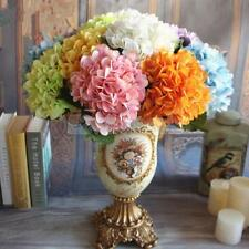 Artificial Hydrangea Silk Flowers Leaf Stem Wedding Bridal Party Home Decor PICK