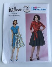 Butterick Sewing Pattern B6285 Misses' Top & Skirt Retro Style Wrap Top Sz 14-22