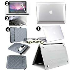 Clear Transparent glossy Case+Bag+Keyboard +Screen protector for Apple Macbook