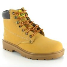 MENS WORK SAFETY STEEL TOE CAP LEATHER WORK BOOTS TRAINERS SHOES MILITARY HIKING