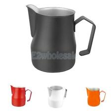 Stainless Steel Milk Cup Coffee Milk Frothing Jug Pitcher 12zo/17oz/24oz