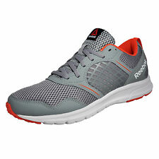 Reebok Rush Mens Running Shoes Fitness Workout Gym Trainers Grey