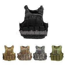 Tactical Molle Plate Carrier Combat Assault Vest Waistcoat Black/Tan/Camo