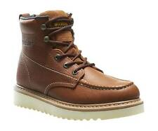 """WOLVERINE W08288-M WORK WEDGE 6"""" MOC TOE Mn's (M) Brown Leather Boots"""