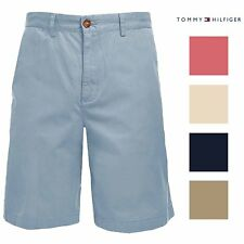 Tommy Hilfiger Mens Classic Fit Flat Front Chino Shorts