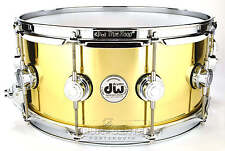 DW Collectors Bell Brass Snare Drum 14x6.5 w/ Chrome Hardware