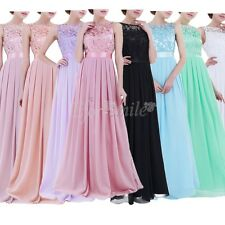 Women Lace Wedding Dress Prom Evening Party Cocktail Bridesmaid Long Gown 4-16