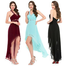 Long Formal Evening Party Cocktail Dress Bridesmaid HALTER Wedding Prom Gown