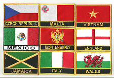 National Country Flag Embroidered Iron or Sew On Badge Patch From Souvenirz UK!