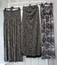 Ladies 8/10 14/16 22 Animal Print Bandeau Neck Summer Holiday Casual Maxi Dress