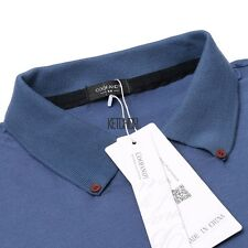 Men's Turn Down Collar Long Sleeve Solid Slim Fit Casual Polo Shirt Tops KECP01