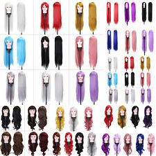 Women Long Curly Wavy Full Wig Heat Resistant Anime Cosplay Party 75/80/100CM MF