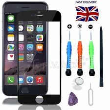 """Black Front Touch Screen Glass Lens Replacement+Tools Kit For iPhone 6 Plus 5.5"""""""