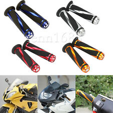 "Motorcycle Dirt Bike ATV 7/8"" Handlebar Rubber Gel Hand Grips W/Bar End Colorful"