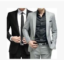 Mens Slim Fit Stylish Formal Dress Suit Suits Two Button Suit Set Jacket Pants