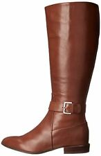 Nine West Womens Diablo Wide Calf Leather Pointed Toe, Dark Natural, Size 5.0