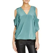 Bailey 44 5519 Womens Silk Drapey Cold Shoulder Casual Top BHFO