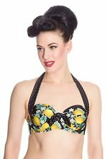 Hell Bunny Lemonade Bikini Top Vintage Pin Up Swimwear