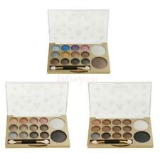 14 Colors Shimmer Matte Eyeshadow Eye Shadow Palette w/ Brush Mirror Makeup Kit