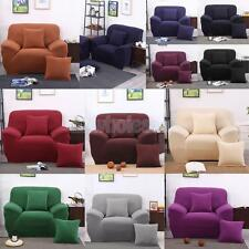 Solid Spandex Stretch Armchair Sofa Covers 1 or 3 Seater Couch Cover Slipcover