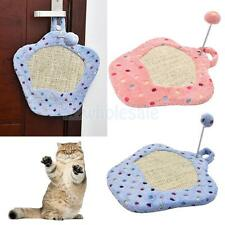 Pet Kitten Cat Scratching Mat Scratcher Post Cardboard Bed Interaction Toy Ball