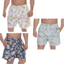 Mens Palm Print Microfibre Swim Shorts Beach Surf Summer Holiday Cargo Bay Short