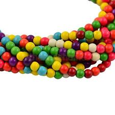 MagiDeal Synthetic Turquoise MultiColor Loose Round Stone Spacer Beads 4-10mm