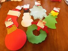 New 2 Pkgs.= 8 Pc. Christmas Foam Shapes for Kids Crafts- 6 to Choose From!