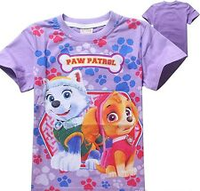 EX-STORES GIRLS CHARACTERS COTTON CREW NECK SHORT SLEEVES T.SHIRT TOP,3 5 6 8YRS
